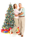 Christmas elderly couple Royalty Free Stock Photos