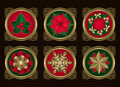 Christmas elements in Gold (set 2) Royalty Free Stock Images