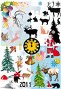 Christmas elements large collection Royalty Free Stock Photos