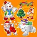 Christmas elements orange Royalty Free Stock Photo