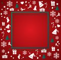 Christmas elements with space  pattern background vector illustration Royalty Free Stock Photo