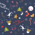 Christmas elements texture Stock Image