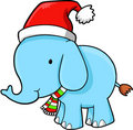 Christmas Elephant Vector Royalty Free Stock Photo