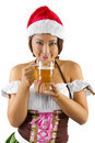 Christmas Elf Bartender Royalty Free Stock Photo