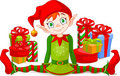 Christmas Elf with gifts