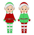 Christmas elf girls Royalty Free Stock Image
