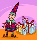 Christmas elf or gnome cartoon Stock Photo