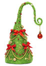 Christmas Tree Decorative, Abstract Creative Xmas Hanging Decoration, White Background Royalty Free Stock Photo
