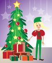 Christmas elf illustration Stock Photography