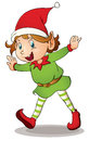 Christmas elf illustration of a Royalty Free Stock Photography