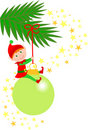 Christmas Elf Ornament/eps Stock Image