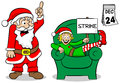Christmas elf on strike vector illustration of a at Stock Images