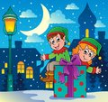 Christmas elf theme 4 Stock Photography
