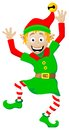 Christmas elf on white background vector illustration of a Royalty Free Stock Images