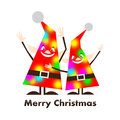 Christmas elfs happy and funny Royalty Free Stock Images