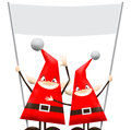 Christmas elfs happy and funny Royalty Free Stock Image