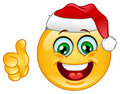 Christmas emoticon Stock Photo