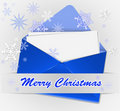 Christmas envelope Stock Photos