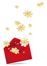 Christmas envelope Royalty Free Stock Images