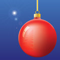 Christmas Eve First Star and ball Royalty Free Stock Photo