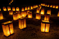 Christmas Eve Luminarias Stock Photography