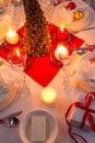 Christmas eve spirit depicted on a traditional table in home Royalty Free Stock Image