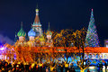 Christmas evening in Red Square Royalty Free Stock Photos