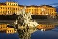 Christmas fair castle schoenbrunn, Vienna Stock Photo