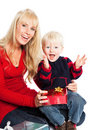 Christmas family gifts Stock Photography