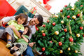 Christmas family portrait Stock Photo