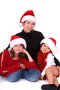 Christmas family portrait. Stock Photos