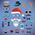Christmas fashion silhouette set hipster style illustration icons Royalty Free Stock Photos