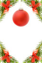 Christmas festive border with red bauble Royalty Free Stock Photography
