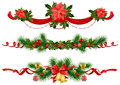 Christmas festive decoration with  spruce  tree Stock Images