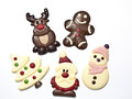 Christmas figures made in chocolat Stock Photo