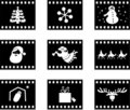 Christmas film Stock Images