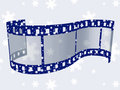 Christmas film stripe Stock Image