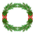 Christmas fir branch wreath frame Stock Image