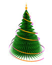 Christmas fir tree.  on white Stock Images