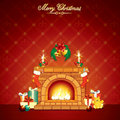 Christmas Fireplace Royalty Free Stock Image