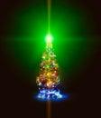Christmas firtree Stock Photography