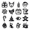 Christmas flat icons set of about Stock Photos