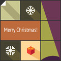 Christmas flat interface decorative icon set for your design Royalty Free Stock Photography