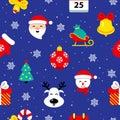 Christmas flat seamless pattern