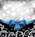 Christmas floral background, ornamental elements Stock Photos