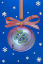 Christmas flower bulb with snoweflakes. Stock Images
