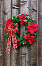 Christmas flower wreath Royalty Free Stock Photo