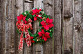 Christmas flower wreath Stock Photos