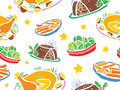 Christmas Food Seamless Pattern Stock Images