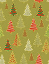 Christmas forest - seamless pattern Stock Images